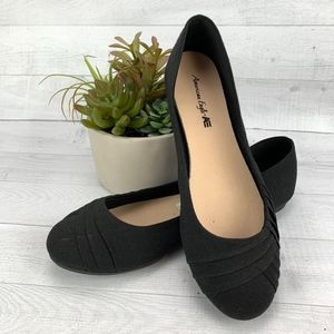 American Eagle AE Canvas Ballet Flat Black Shoes